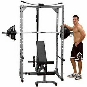 Body Solid Powerline Power Squat Rack Lat Tower Bench PPR200X
