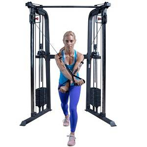Body Solid PowerLine Cable Cross Functional Trainer Hi Lo PFT100