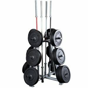 Body Solid Olympic Bar & Plate Holder Vertical Storage SWT-1000