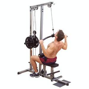 Body Solid High Lat Pull Down Low Row Curl Pulley Machine GLM83