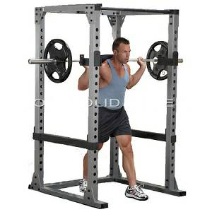 Body Solid Commercial Pro Power Squat Rack Safety Cage GPR-378