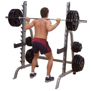 Body Solid Free Weight Power Squat Multi Press Half Rack GPR370