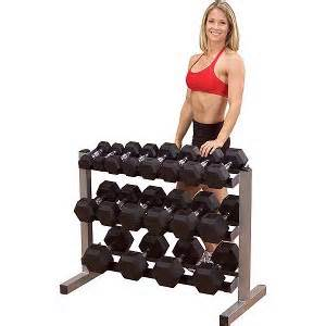 Body Solid Free Weight Dumbbell Dumbell Storage Rack Tier GDR363