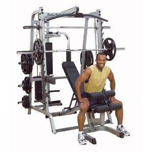 Body Solid Series7 Smith Machine Gym Pro System Package GS348QP4