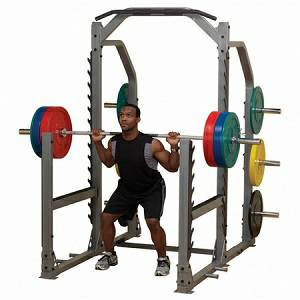 Body Solid Pro Club-Line Gym Multi Power Squat Rack Cage SMR1000