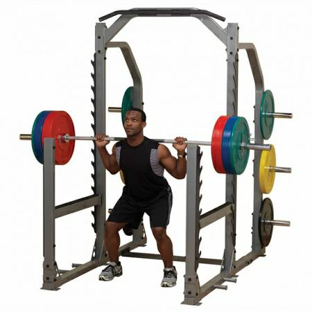 Body Solid Pro Club-Line Gym Multi Power Squat Rack Cage ...