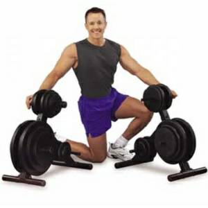 Body Solid Storage Rack Free Weight Gym Olympic Plate Tree OWT24