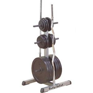 Body Solid Standard Free Weight Plate Tree Bar Holder Rack GSWT