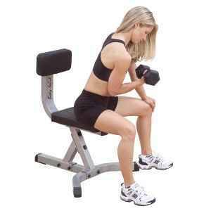 Body Solid Free Weight Gym Dumbbell Workout Utility Stool GST20