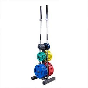 Body Solid Vertical Olympic Plate Weight Tree Storage Rack WT46