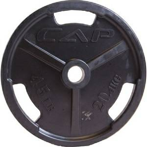 Cap Barbell Olympic Free Weight Rubber Grip Plate Plates 45 lb.