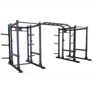 Body Solid Double Power Squat Rack Extended Back SPR1000DBBACK