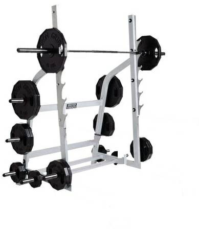 Hammer Strength Fitness Free Weight Power Squat Multi Press Half