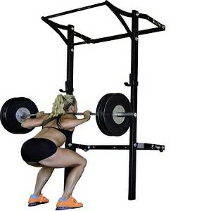 PRx Performance Profile Folding Kipping Bar Squat Power Rack Gym