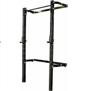 PRx Performance Wall Mount Folding Squat Rack with Straight Bar