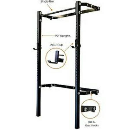 Prx Performance Wall Mount Folding Squat Rack With