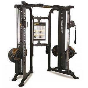 PowerTec Functional Trainer Dual Column Cable Crossover WB-FTD16