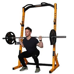 PowerTec WorkBench MultiPress Gym Squat Half Rack WB-HR19-Y