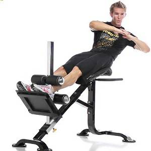 PowerTec Dual HyperExtension Back Roman Chair Ab Crunch P-HC