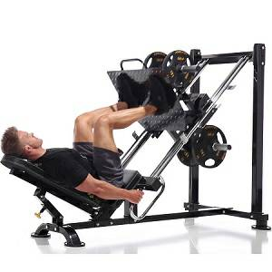 PowerTec 45 Degree Leg Press Sled Safety Squat Calf Raise P-LP