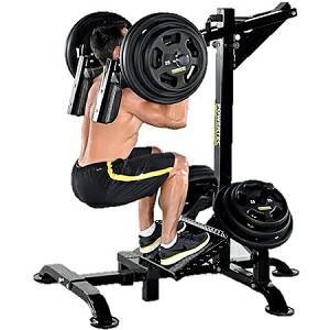 PowerTec LeverGym Leg Press Safety Squat Calf Raise Legs L-SC