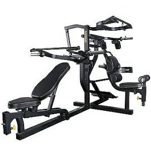 PowerTec Fitness WorkBench MultiSystem Leverage Gym WB-MS-BB