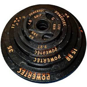 PowerTec Fitness 255# Olympic Grip Plate Set Free Weight Plates