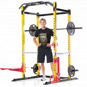 PowerTec Tec Power Squat Rack CrossFit Gym Safety Full Cage WBPR