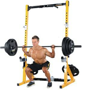 PowerTec Power Tec WorkBench MultiPress Squat Half Rack WB-HR16B