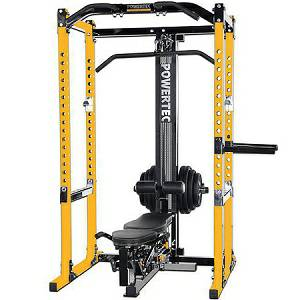 PowerTec Power Squat Rack Cage Lat Tower Utility Bench Gym Syste