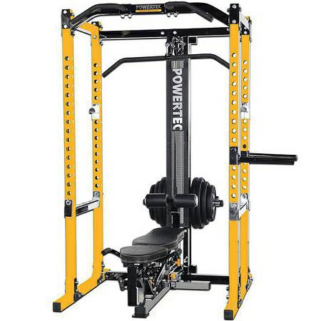 Powertec Power Squat Rack Cage Lat Tower Utility Bench Gym