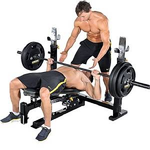 PowerTec Olympic Flat Incline Decline FreeWeight Gym Bench WB-OB