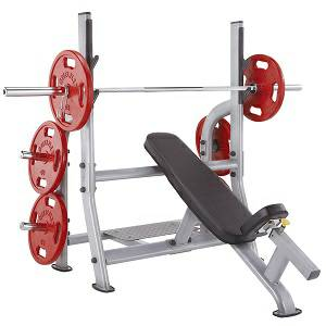 SteelFlex Olympic Free Weight Incline Bench & Spotter Stand NOIB