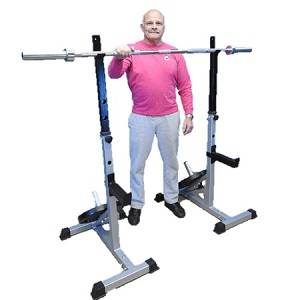Adjustable Free Weight Power Squat Multi Press Rack Stand Stands