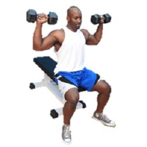 NYB Commercial Heavy Duty Flat Utility Dumbbell Workout Bench