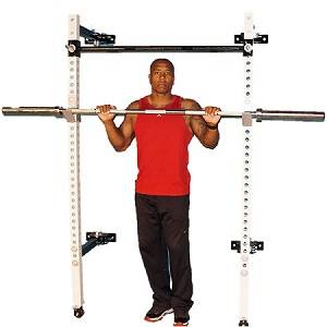 NYB Folding Wall Mount Power Rack Space Saving Multi Press Squat