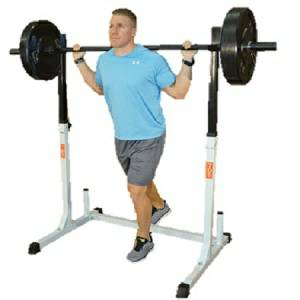 Olympic Free Weight Adjustable Safety Leg Squat Multi Press Rack