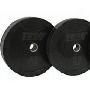 Troy InterLocking Olympic Rubber Bumper Plate Plates Set 140 lb