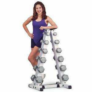 Troy A Frame Vertical Storage Rack Tree & 12 Hex Dumbbells GADR6