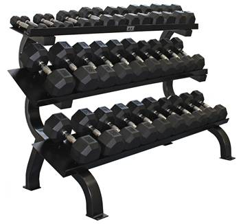 VTX by Troy Deluxe 3 Tier Horizontal Dumbbell Rack Storage GTDR3