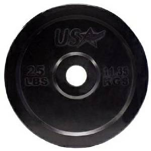 USA Barbell Olympic Rubber Bumper Weight Plate Plates 25# GBO025