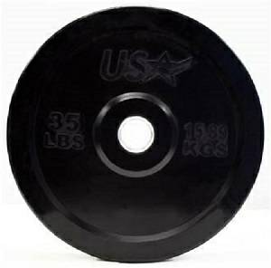 USA Barbell Olympic Rubber Bumper Weight Plate Plates 35# GBO035