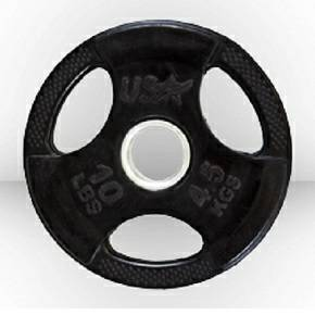 USA Troy Olympic Free Weight Plate Rubber Coated Grip Plates 10#
