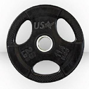 USA Sports Troy Olympic Free Weight Plate Rubber Grip Plates 25#