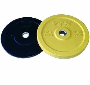 VTX Honey Bee Olympic Rubber Bumper Free Weight Plate Set 80 lb.