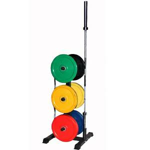 VTX Troy Vertical Olympic Bumper Plate & Bar Storage Rack GOPT