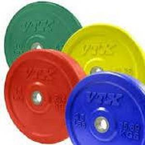 VTX Olympic Colored Rubber Bumper Free Weight Plate Set Sets 230