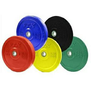 VTX Olympic Colored Rubber Bumper Free Weight Plate Set Sets 260