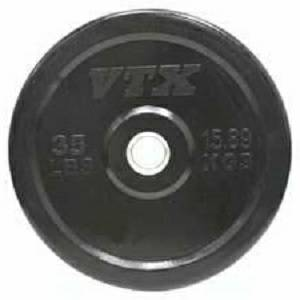 VTX Barbell Olympic Rubber Bumper Free Weight Plate Plates 35#