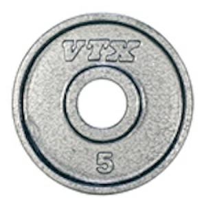 VTX Troy Barbell Olympic Weight Lifting Grip Plate 5 lb GO-005V